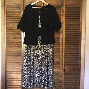 Perceptions size 18 dress with shrug.  $30.